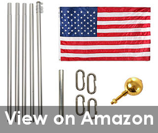 flag pole home depot reviews