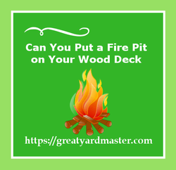 can you put a fire pit on your wood deck