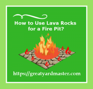 how to use lava rocks for a fire pit