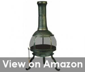 large and beautiful cast iron chiminea