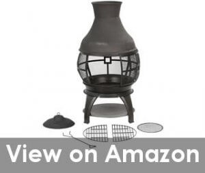 versatile and durable chiminea with cooking grill
